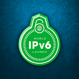 World IPv6 launch badge Logo